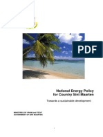 National Energy Policy for country Sint Maarten