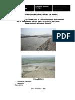 Estudio a Nivel de Perfil Irrigacion Avenidas Valle Medio y Bajo Santa