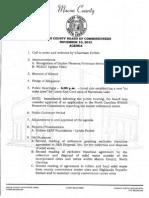 Nov 2015 Commissioner Agenda