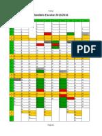 Calendário escolar 2015/2016