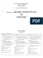 Multi Grade Lesson Plan in English