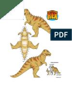 Plantillas Para Armar Tyranosaurus