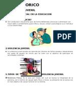Informe de Violencia Familiar, Violencia Juvenil, Bulying, Embarazo Precoz