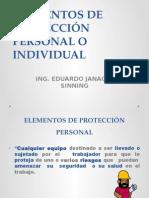 Clase Elementos de Protección Personal