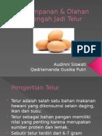 Penyimpanan & Olahan Setengah Jadi Telur