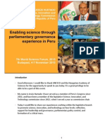 Enabling science through parliamentary governance. Experience in Perú (Jesús Hurtado, Nov 2015)