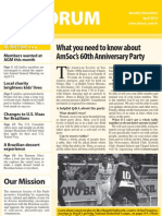 April 2010 issue of Forum newsletter