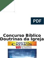 Concurso Bíblico - Doutrinas