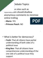 Debate Info