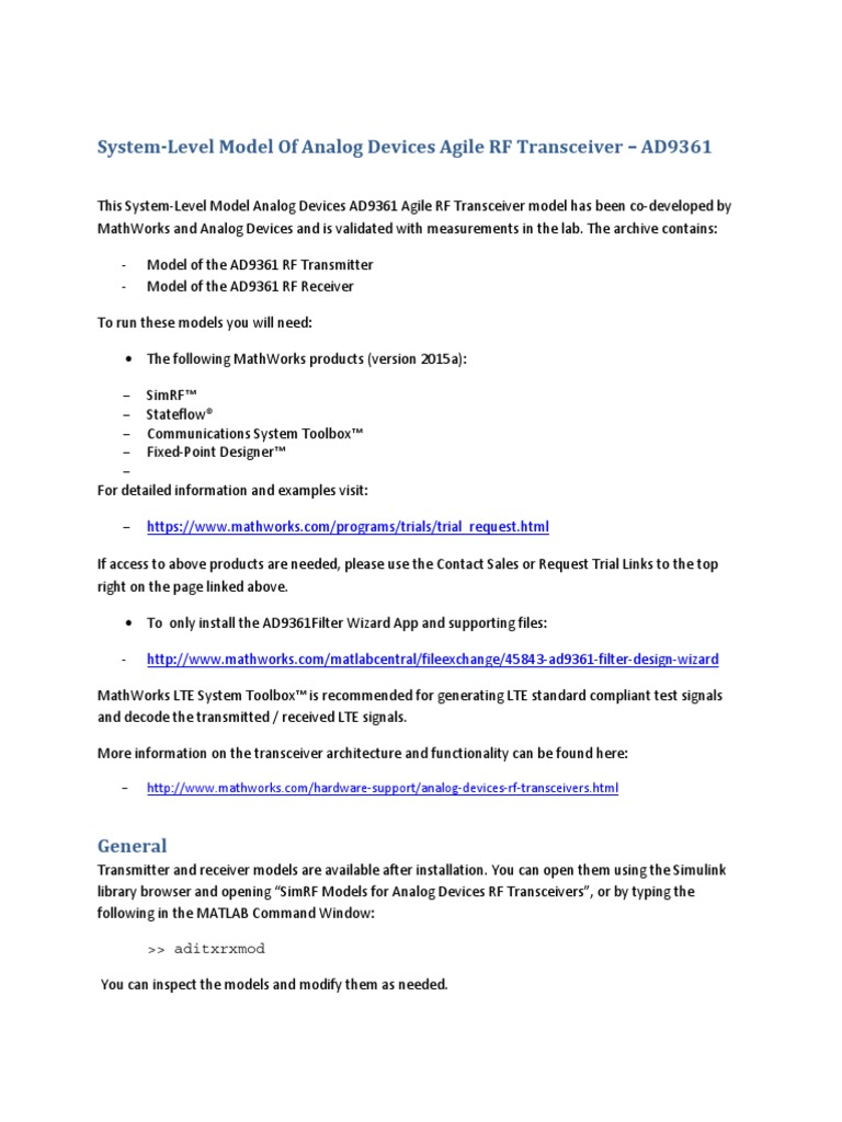SystemModel_AD9361   Analog To Digital Converter   Signal