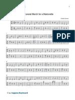 Funeral Marionette MusiScript Notation