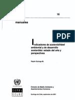 Indicadores de Sostenibilidad Ambiental y de Desarrollo Sostenible - Quiroga, R