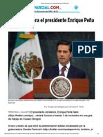 29-10-15 Visitará Sonora el presidente Enrique Peña Nieto - El Imparcial