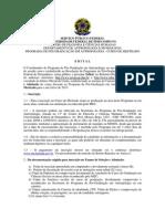 Edital Mestrado 2012-2013