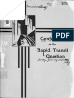 1930 Conference Rapid Transit Question