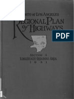 1931 County Los Angeles Regional Plan Highways Sec4 Long Beach Redondo Area
