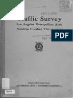 1937 Traffic Survey Los Angeles Metropolitan Area