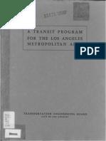 1939 Transit Program Los Angeles Metropolitan Area