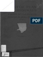1941 Master Plan Highways County Los Angeles Regional Planning District