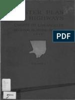 1941 Master Plan Highways County Los Angeles Regional Planning District
