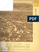 1944 Transit Study Los Angeles Metropolitan Area