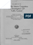 1951 Final Report Assembly Interim Commitee Investigation Traffic Control