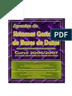 Apuntes completos del curso 2006/2007 Bases de Datos