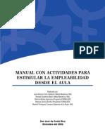 Manual Con Actividades Para Estimular La Empleabilidad Desde Aula