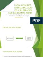 DER.CIV. III - invalidez – inexistencia del acto jurídico y su relación con las figuras afines