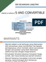 Manajemen Keuangan Lanjutan - Warrants and Convertible