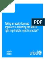 Equity Focused Approach Equity Focused Approach