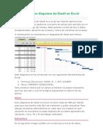 Como Hacer Un Diagrama de Gantt en Excel