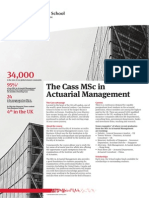 MSc Factsheet Actuarial Management