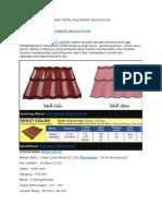 Spesifikasi Atap Genteng Metal Multiroof Multicolor