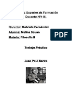 Análisis de Jean Paul Sartre