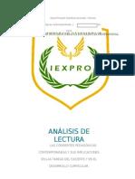 Analisis Corrientes Pedagogicas Contemporaneas y Sus Impicaciones en La Tarea Del Docente.