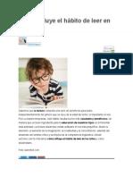Cómo Influye El Hábito de Leer en Los Niños