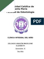 Historia Clinica de Niño - ODONTOLOGIA