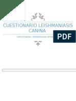 LEISHMANIASIS CUESTIONARIO