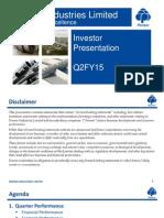 Pennar Industries q2fy15 Investor Presentation