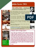 Newsletter Easter 2015
