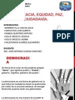 Democracia Equidad Paz Ciudadanía