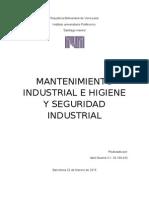 mantenimiento e higiene y seguridad industrial