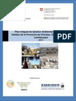 Plan Residuos Solidos Provincia de Chiclayo
