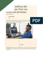 Cinco Beneficios del Teletrabajo Para Las Empresas peruanas.docx