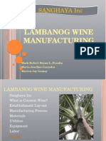 Lambanog Wine Manufacturing