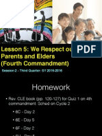 Third Quarter Lesson 6 4th Commandment -Session 2 WebQuest and Discussion 4th and Filial Piety