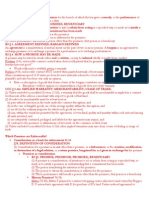 Contracts Outline, Condensed