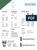 Hdc Dive Rates 2015