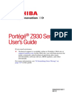 Toshiba Portege z930 Series User Guide